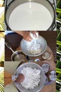 Lait de coco comme à Madagascar
