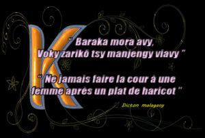 Dicton malgache Haricot