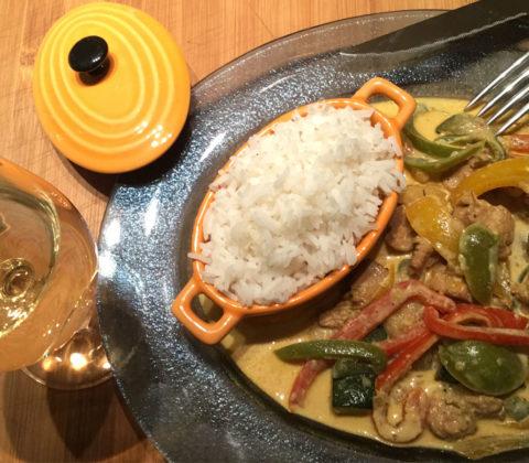 Curry rouge de poulet au lait de coco