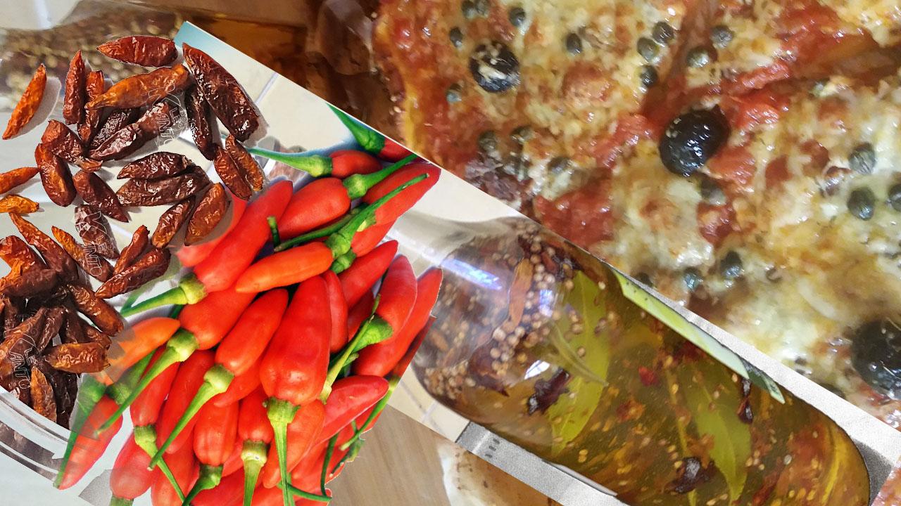 L'HUILE PIMENTÉE POUR PIZZA (ASSAISONNEMENT)