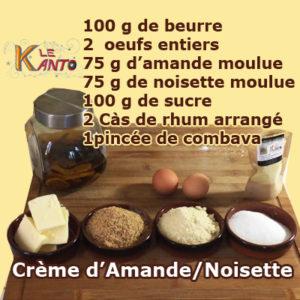 Crème d'amande et noisette