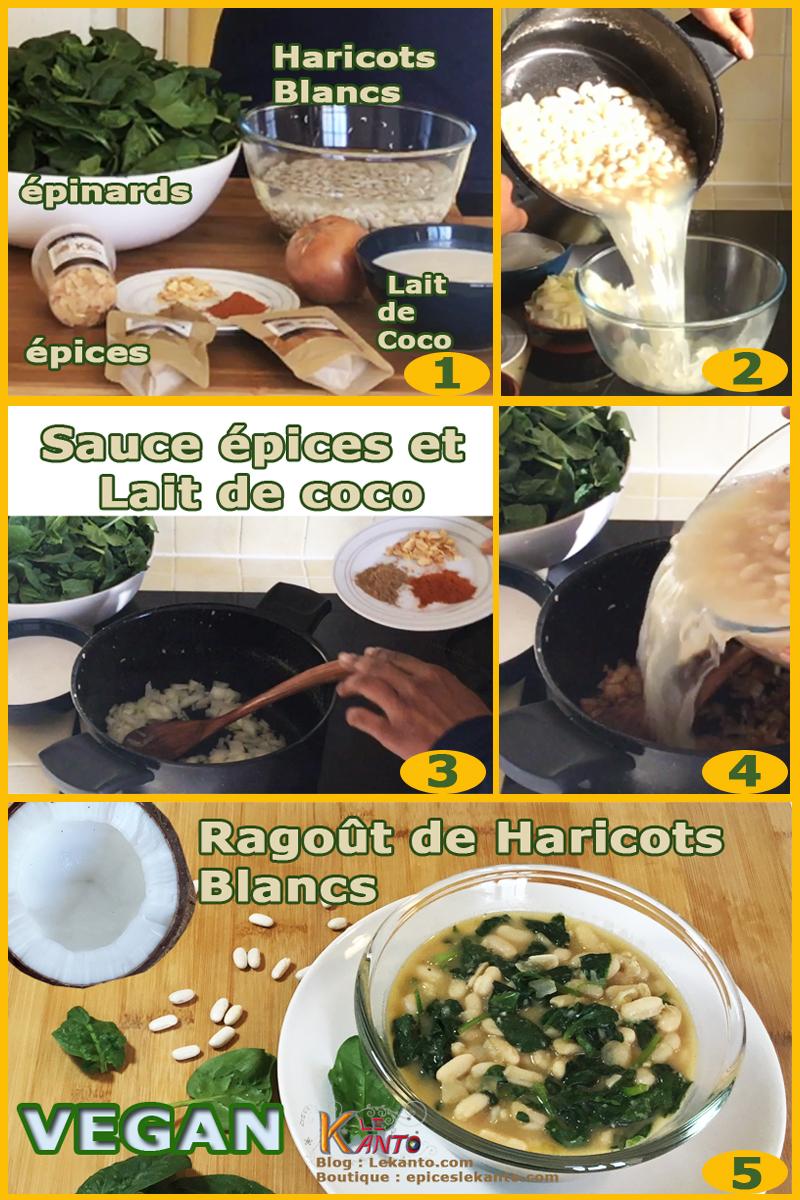 Etape de préparation ragoût haricots blancs