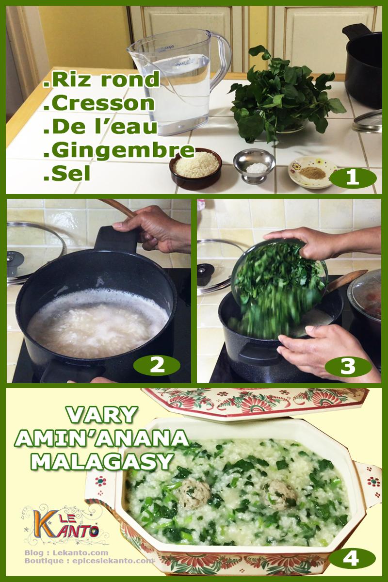 Vary amin'anana recette