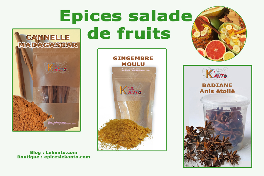 Epices pour la salade de fruits