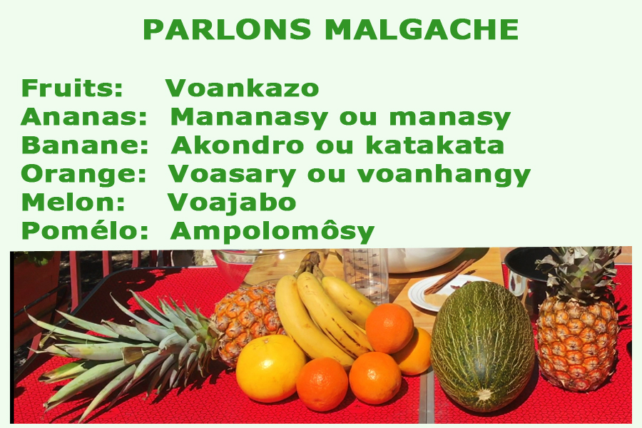 Nom des fruits en malgache