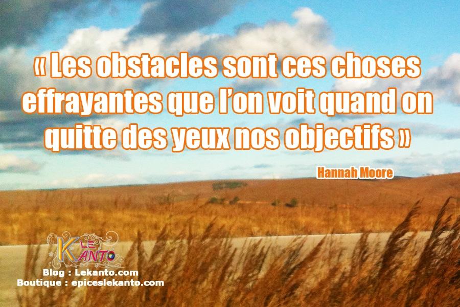 Obstacles à franchir