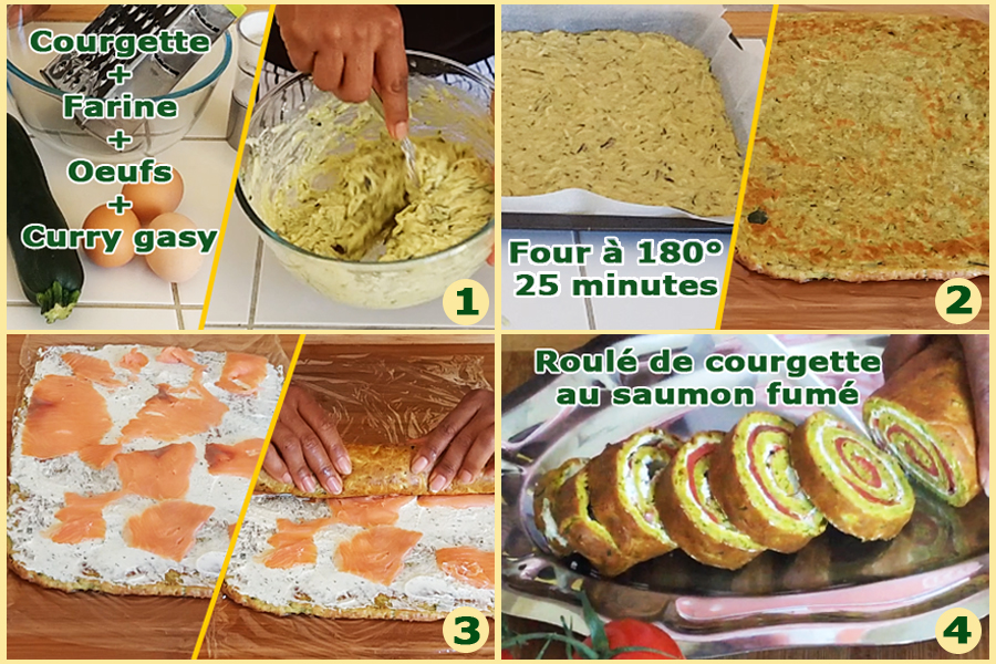 Galipette de courgette et saumon