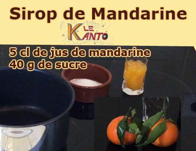 Sirop à la mandarine