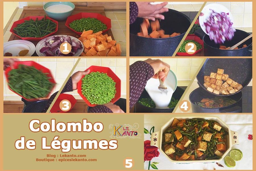 Mélange de légumes au Colombo