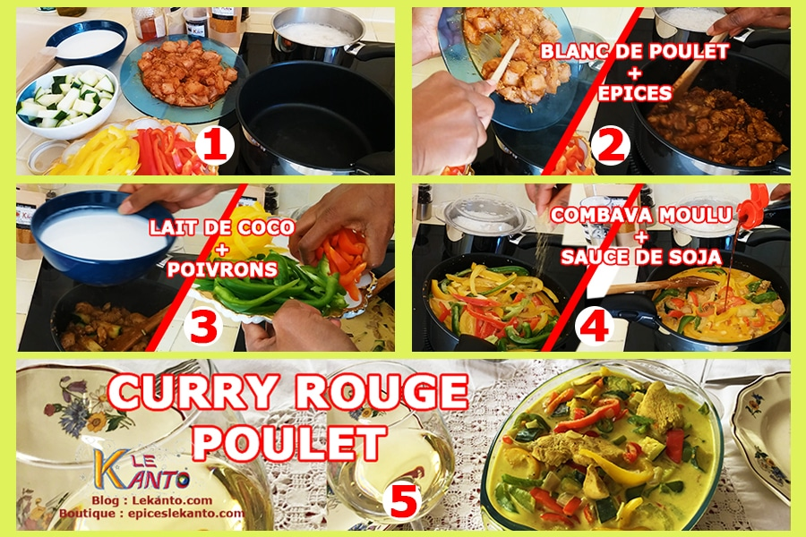 Poulet sauce curry