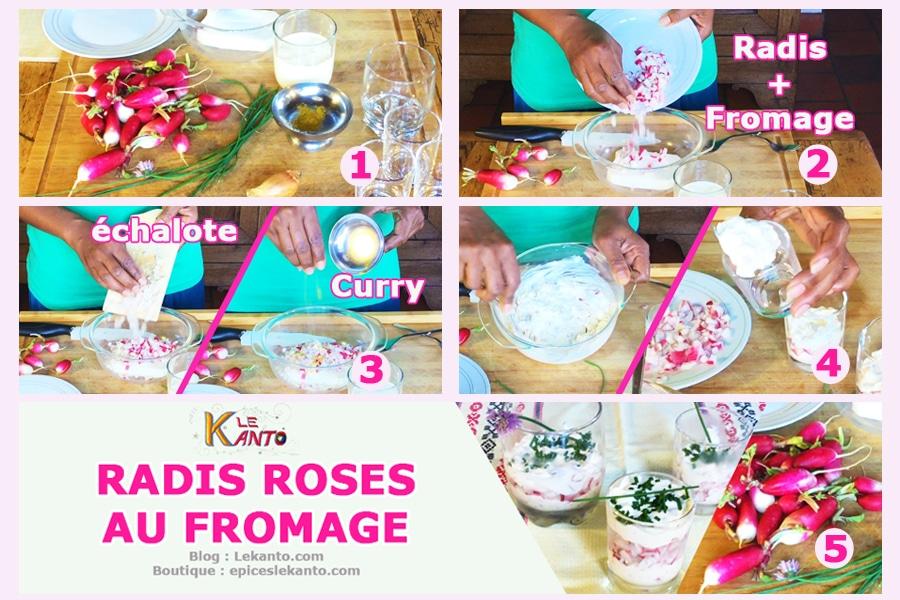 Recette de radis roses